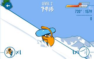 Yatsha xtrem snowboarding game screenshot