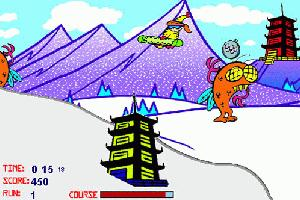 Snowboard Mount Fuji game screenshot