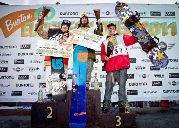 BEO11 mens slopestyle podium