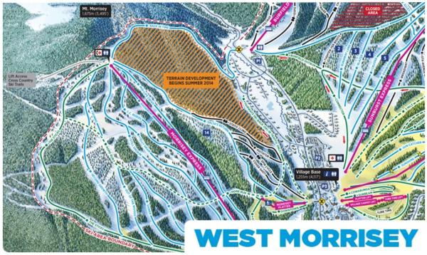 Sun Peaks West Morrissey Area Expansion