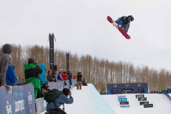 2014 US Open Mens Halfpipe Semis first place to Yiwei Zhang