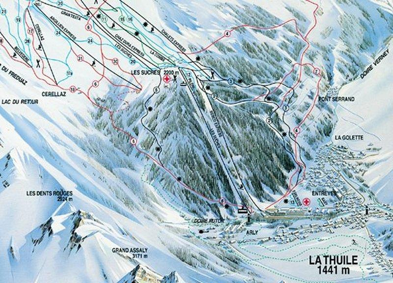 La Thuile riding guide World Snowboard Guide