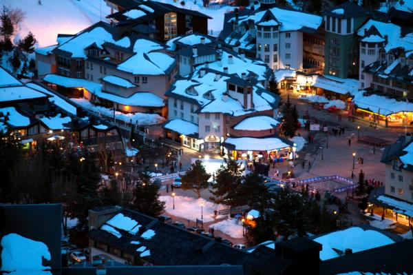 Sierra Nevada village at night