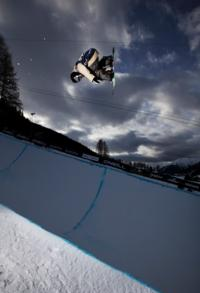 Swiss clean sweep in mens halfpipe at Evolution 11
