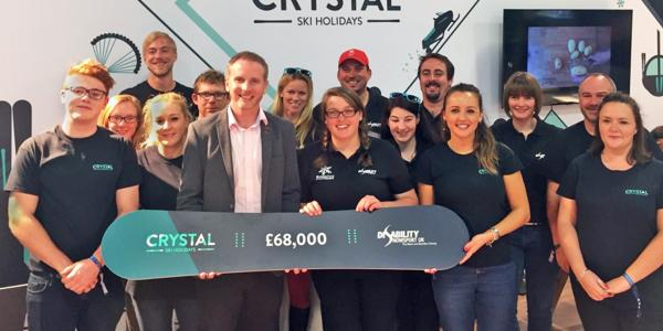 Crystal raise £68,000 for Disability Snowsport UK