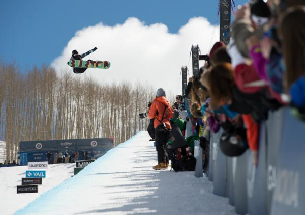 Womens 2014 US Open Halfpipe winner Taylor Gold