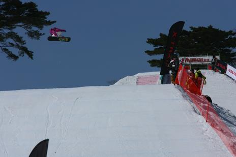 Asian open 09 slopestyle - Jamie Anderson
