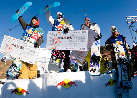 Nanshan Open 09 winners podium