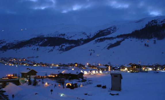Livigno at night