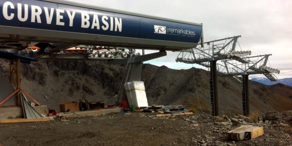 Queenstown ski area chairlift an engineering feat!