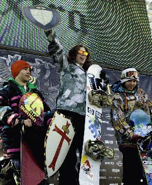 White wins the 2008 US Open Slopestyle