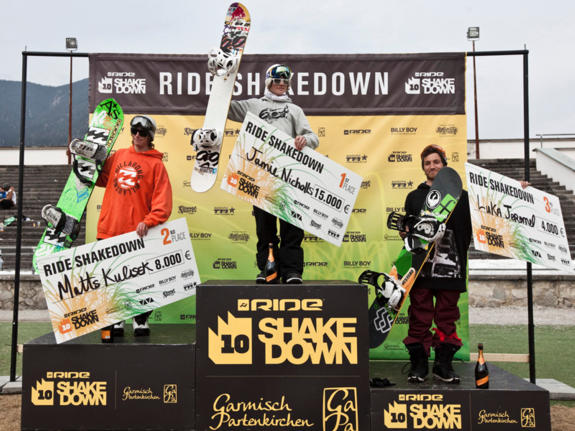 Ride Shakedown 2011 from Garmisch winners podium