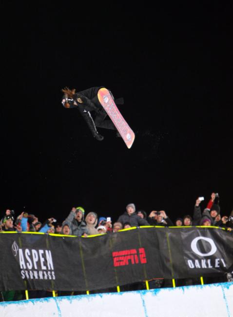 Shaun White competing in Men's Snowboard SuperPipe Finals at Winter X Games 15