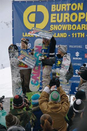 BEO 08 Ladies Slopestyle Podium