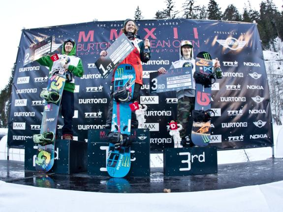 Burton Open 2012 Men's Podium