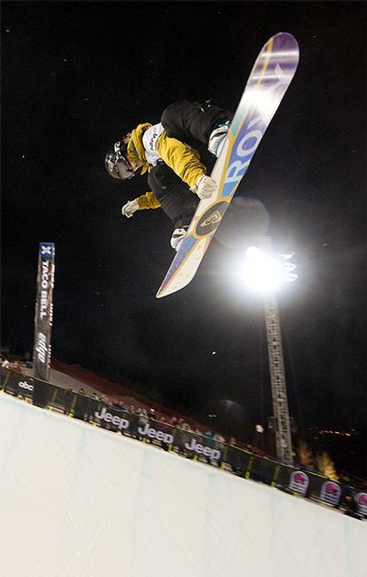 X-Games 09, Women's Halfpipe winner Torah Bright,