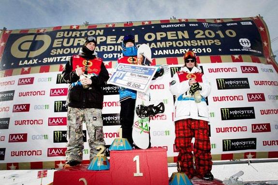 BEO2010 Mens Slopestyle Finals Podium