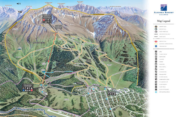 Alyeska summer map