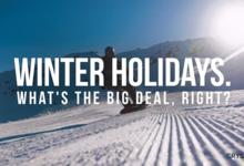 Winter holidays. What's the big deal, right?