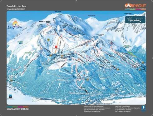 Paradiski 2010/11 Wipeout Map