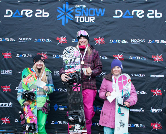 Brits Halfpipe Woment's Podium