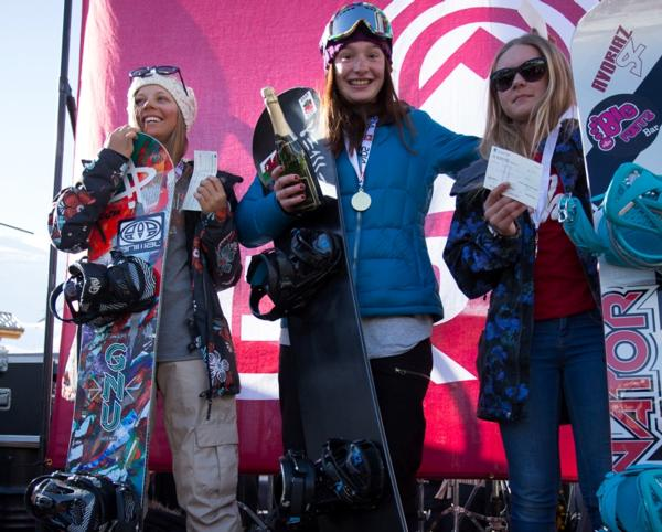 The Brits Snowboard Cross Womens Podium 2014