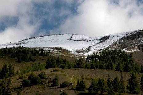 Snow in August 09 at Lake Louise Ski Area
