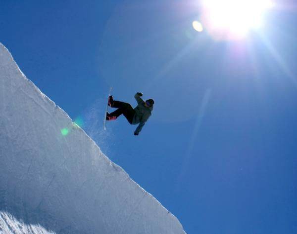 Trying out the half pipe at Mt Hutt
