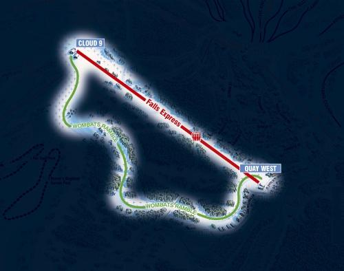 Falls Creek Night Ski Map