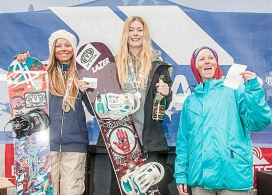 Brits Slopestyle Womens Podium