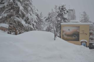 Crans Montana Snow Fall Dec 2011