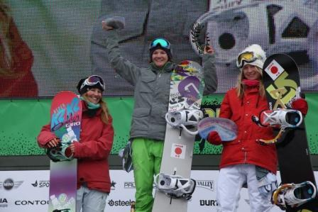 2011 Burton US Open halfpipe womens winners podium