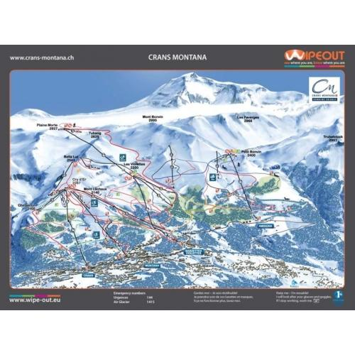 Crans Montana 2011-12 Wipeout Piste Map