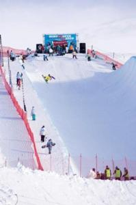 NZ Open Halfpipe qualification under sunny skies