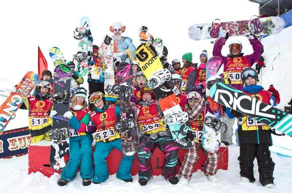 BEO2010 in Laax, Junior slopestyle finalists