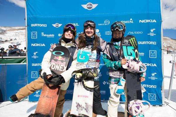 2014 US Open Womens Halfpipe Podium