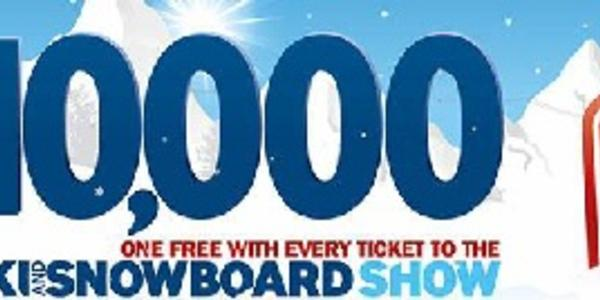 10,000 free lift passes at Ski and Snowboard Show!