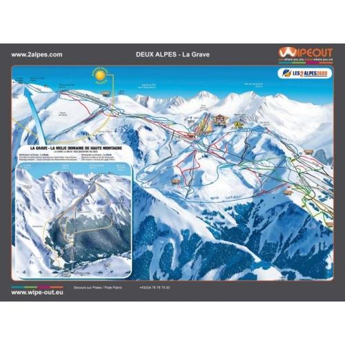 Les Deux Alps 2011-12 wipeout piste map
