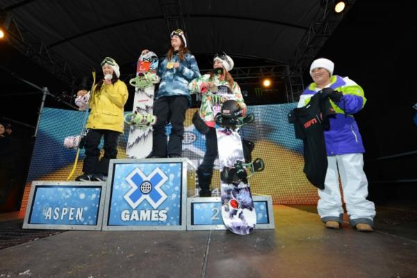 podium x games halfpipe finals