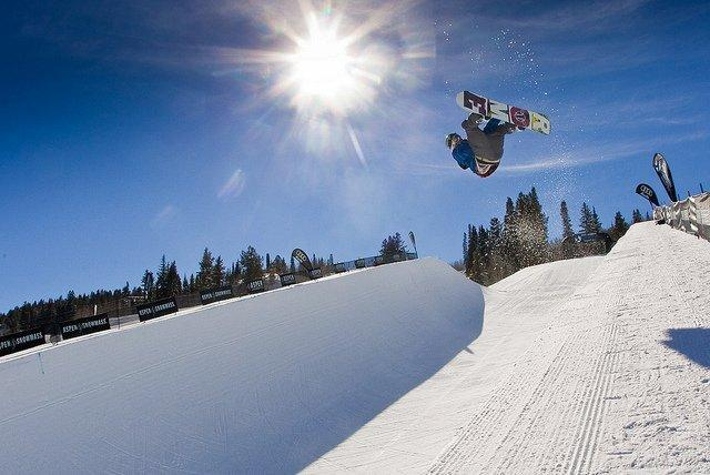Dom Harington halfpipe winner at Aspen 2011 Open