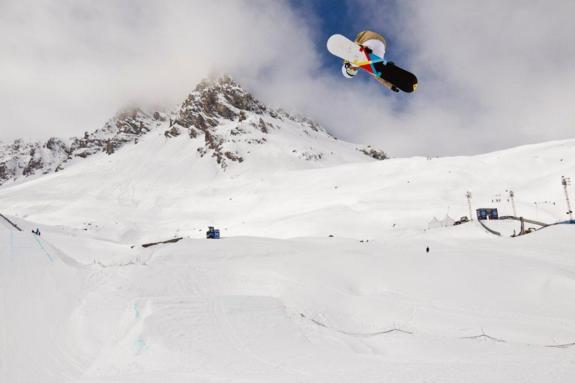 Christian Haller in the Mens Slopestyle at the Winter X Games 2011 in Tignes