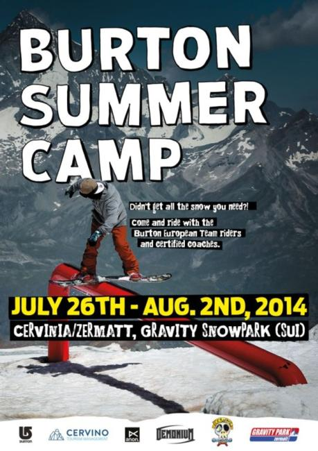 Burton Summer Camp Poster 2014