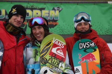 2011 US Open slopestyle mens podium