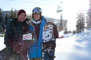 Kevin Pearce and Jake Burton