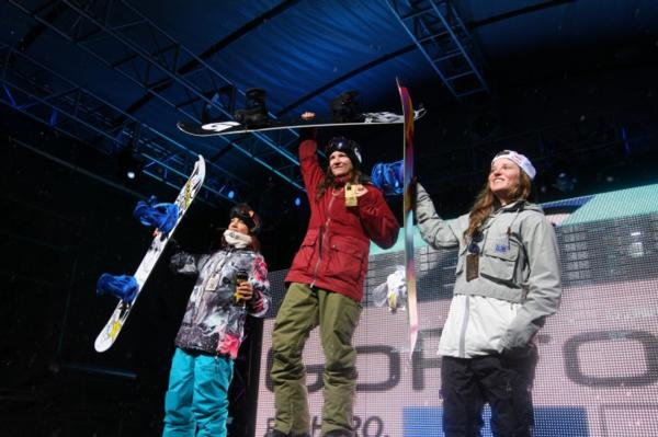 Women's Halfpipe Podium Aspen X Games