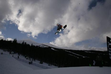 Shaun White Slopestyle winner on Breck stop on Dew Tour 08