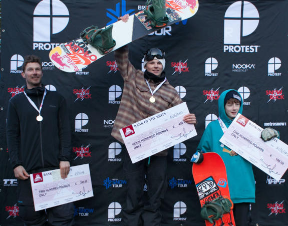 Men's Slopestyle Podium: Brits 2012