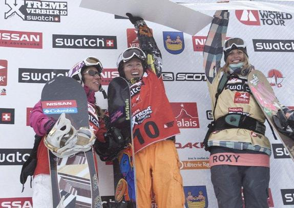 Freeride World Tour Verbier 2010 womens podium