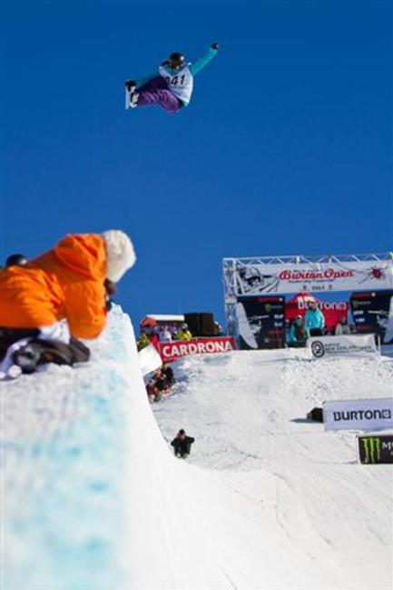 New Zealand 2010 Open halfpipe finals winner Kelly Clark