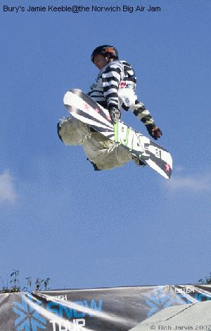 Bury's Jamie Keeble@the Norwich Big Air Jam